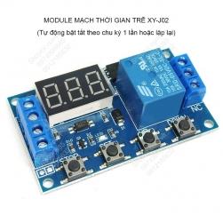 Module mạch relay timer Rơ le thời gian trễ XY-J02 tự động tắt, bật theo chu kỳ do ta cài đặt