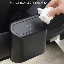 Thùng rác mini trên xe ô tô, loại gắn cửa xe, gắn ghế sau
