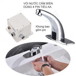 Vòi nước cảm biến tự động đóng mở, đưa tay lại vòi nước mở, đưa tay ra vòi nước đóng