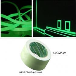 Bang keo dạ quang 5cm3m (phát sáng vào ban đêm)