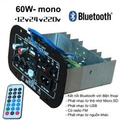 Bộ khuếch đại âm thanh và phát nhạc từ thẻ nhớ, USB, đài FM có kết nối Bluetooth, có remote
