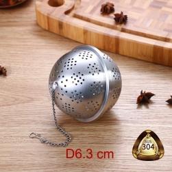Dụng cụ lọc pha trà hình cầu D63mm làm bằng Inox 304 đục lỗ