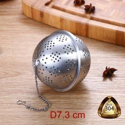 Dụng cụ lọc pha trà hình cầu D73mm làm bằng Inox 304 đục lỗ