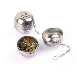 Dụng cụ lọc pha trà hình cầu làm bằng Inox sáng bóng