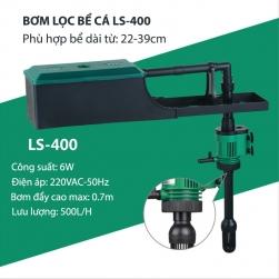 Bộ máy bơm lọc nước bể cá cảnh kiêm cung cấp khí LS400, bơm không chổi than 6W/220V
