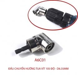 Đầu chuyển hướng tua vít góc 105 độ với đầu lục giác 6.35mm (Loại ngắn A6C01)