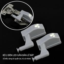 Bộ 2 đèn led thông minh gắn bản lề bật của tủ cá nhân, tủ quần áo HXM1304, dùng chiếu sáng tủ quần áo, tủ cá nhân