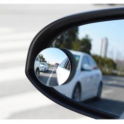 Bộ 2 gương cầu lồi chiếu hậu xóa điểm mù xe hơi xoay 360 độ