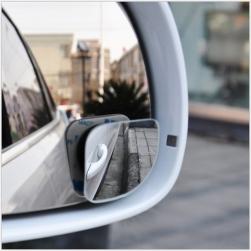 Bộ 2 gương cầu lồi chiếu hậu xóa điểm mù xe hơi xoay 360 độ DM074 (loại hình tam giác)