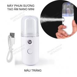 Máy phun sương tạo ẩm, xông hơi nano mini cầm tay, sử dụng pin sạc gắn bên trong HZC-V1