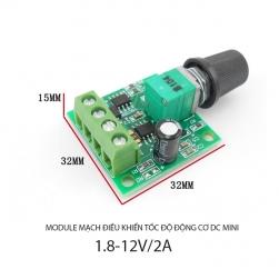 Module mạch điều chỉnh tốc độ động cơ điện 1 chiều mini 1803bk DC 1.5V-12V/2A
