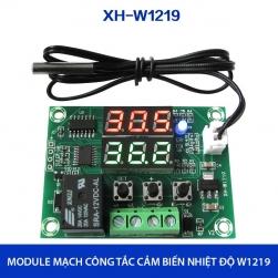 Module mạch công tắc cảm biến nhiệt độ ST-W1219 với 2 màn hình, đầu cảm biến rời có thể ngâm trong nước