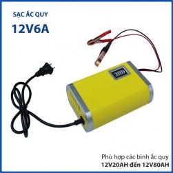 Bộ sạc bình ắc quy thông minh 12V6A YX1206