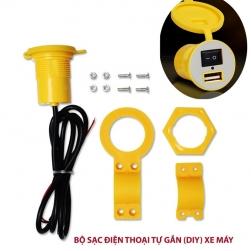 Đầu sạc điện thoại tự lắp (DIY) gắn trên xe máy đầu vào 12V ra 5V1.5A