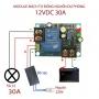 Module mạch kiểm soát và điều khiển tự động sạc bình ắc quy YX1708 -12VDC 30A