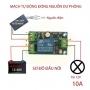 Module mạch tự động đóng nguồn dự phòng X804 12-48VDC 10A